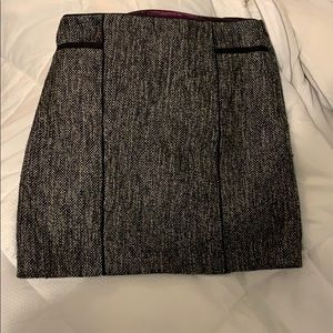 White House Black Market Grey Skirt